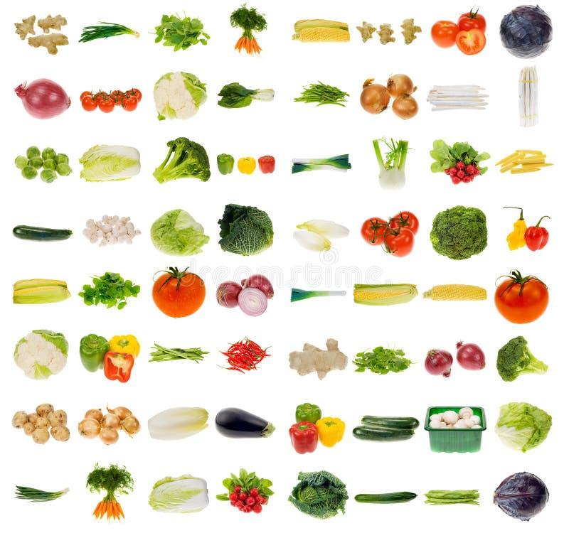 Sehr große Gemüseansammlung stockfoto