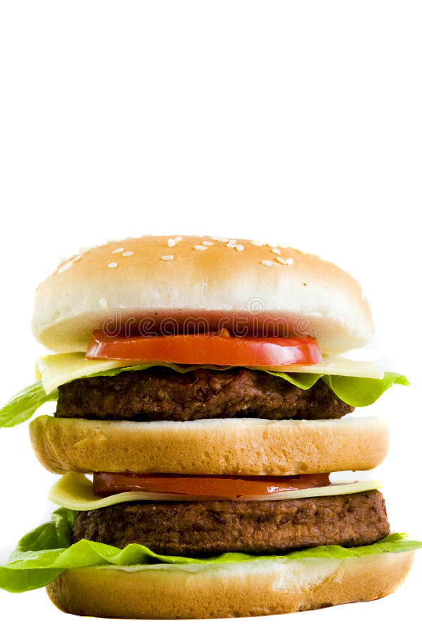 Sehr großer Cheeseburger stockfotos