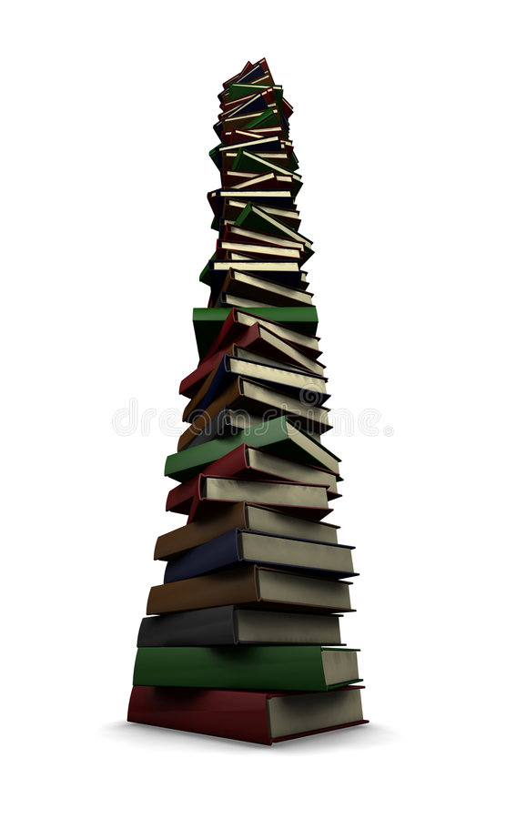 Sehr großer Stapel Bücher stock abbildung