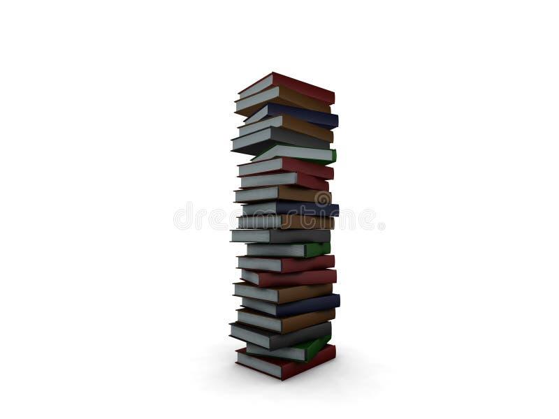Sehr großer Stapel Bücher lizenzfreie abbildung