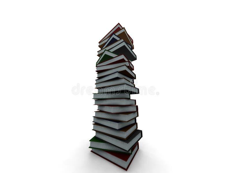 Sehr großer Stapel Bücher vektor abbildung