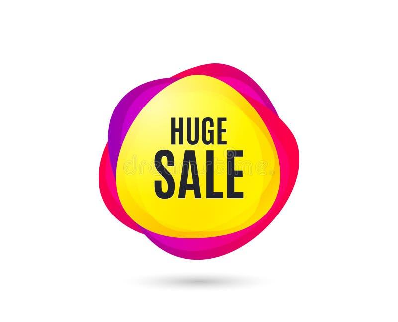 Sehr großer Verkauf Sonderangebotpreiszeichen Vektor stock abbildung