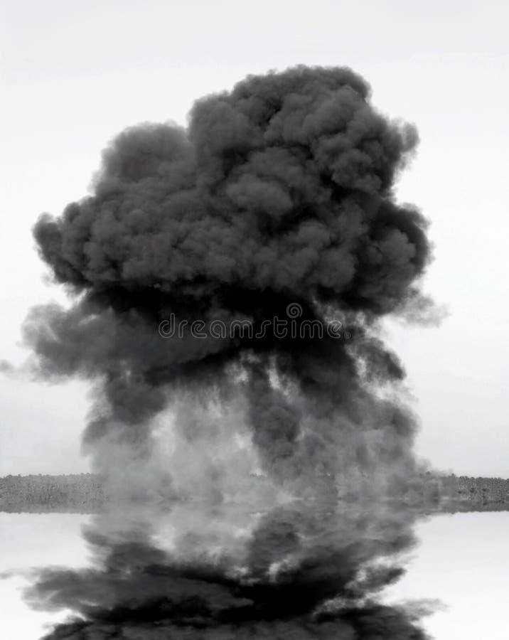 Sehr großes Inferno von der Explosion lizenzfreies stockfoto