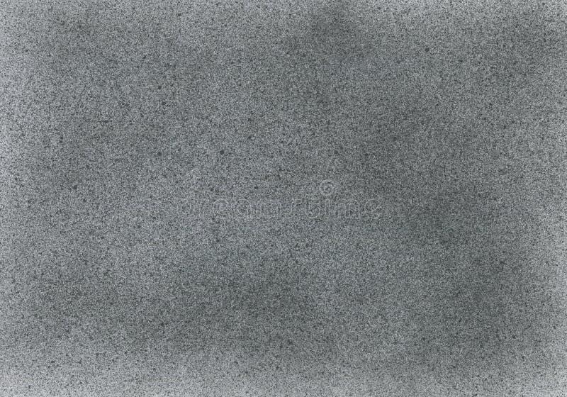 SEHR HÖHEN-Entschließung Tapete mit Spritzpistoleneffekt Schwarze Acrylfarben-Anschlagbeschaffenheit auf Weißbuch Zerstreuter Sch lizenzfreies stockfoto