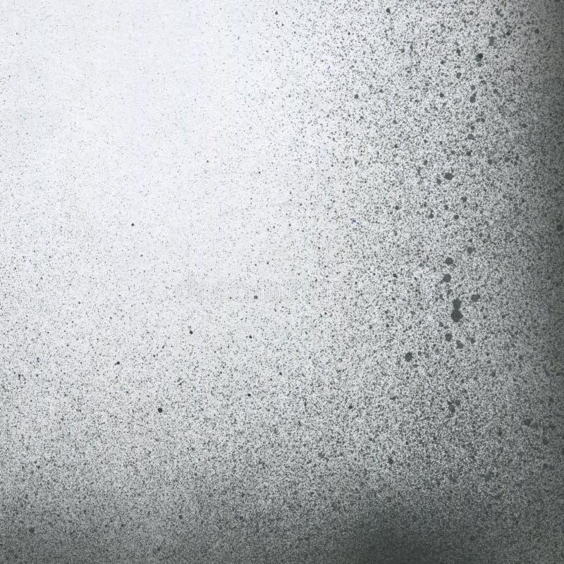 SEHR HÖHEN-Entschließung Tapete mit Spritzpistoleneffekt Schwarze Acrylfarben-Anschlagbeschaffenheit auf Weißbuch Zerstreuter Sch stockbilder