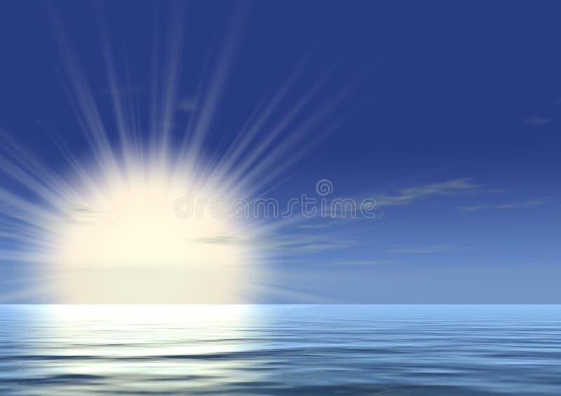 Sehr heller Sonnenaufgang stockbilder
