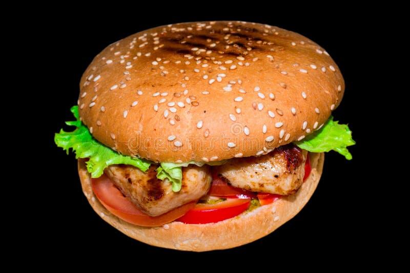 Sehr köstlicher saftiger Burger lizenzfreie stockfotos