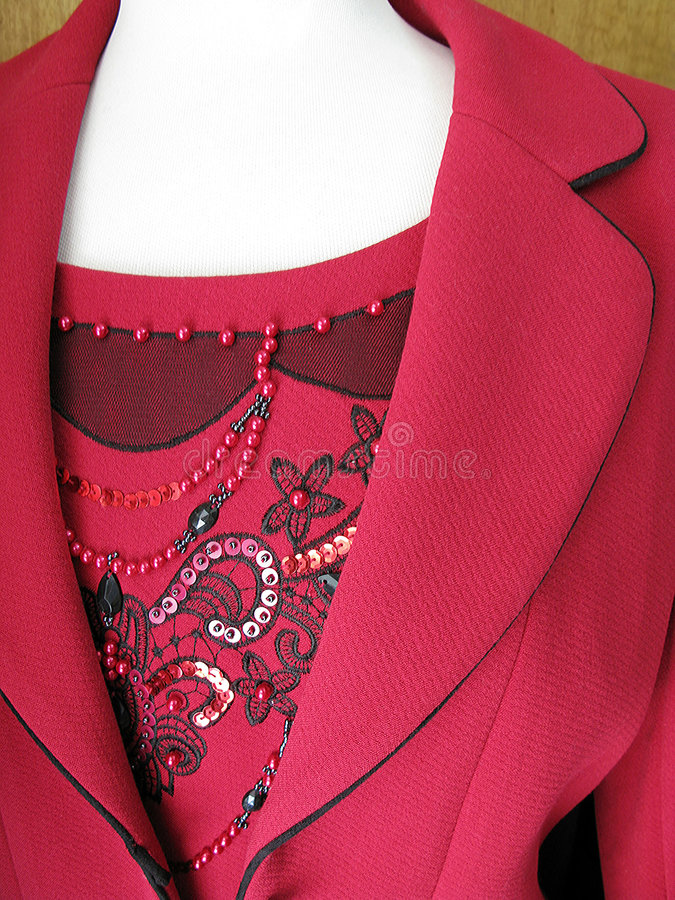 Sehr nettes Kleid im Rot stockbild