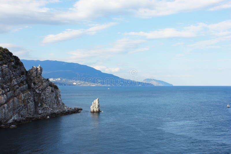 Sehr schöne Aussicht des Meeres stockfotos