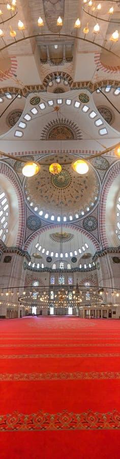 Sehzade Camii或Mosque,伊斯坦布尔王子内部看法  免版税库存照片