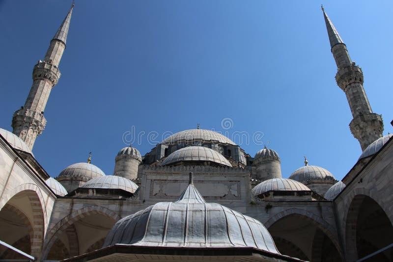 Sehzademoskee en Graf, Istanboel, Turkije stock foto