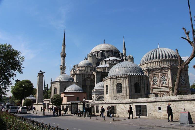 Sehzademoskee en Graf, Istanboel, Turkije royalty-vrije stock foto's