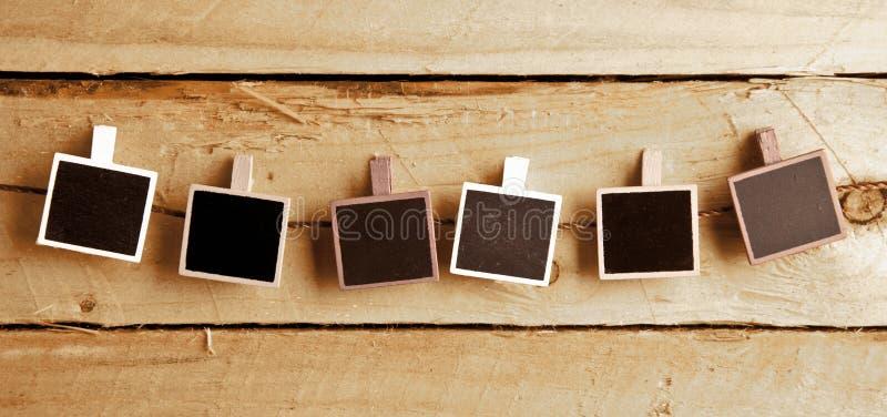 Sei blocchi per grafici della foto di Polaroid-stile immagine stock libera da diritti