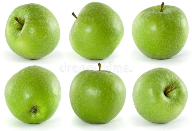 Sei mele verdi immagini stock libere da diritti