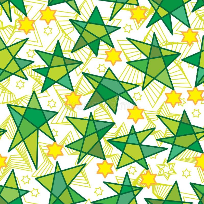 Sei modelli senza cuciture islamico della stella di goccia sei della stella illustrazione vettoriale