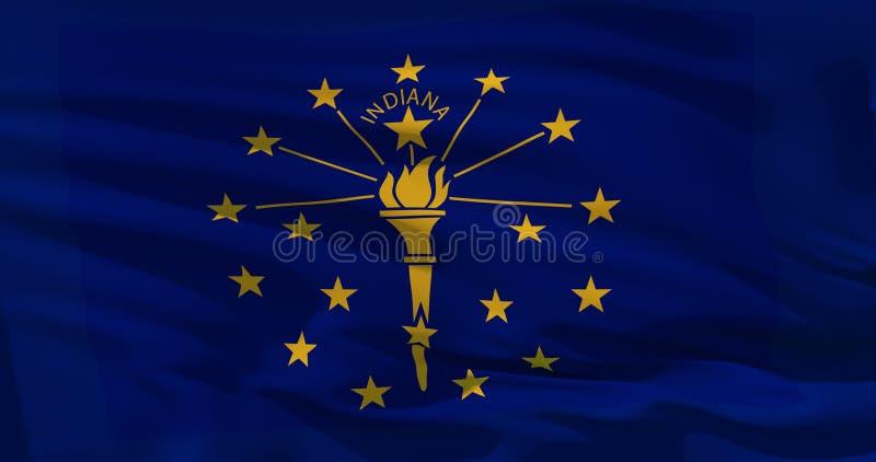 Seidenbeschaffenheit Indiana States, die Vereinigten Staaten von Amerika, Illustration 3d stock abbildung