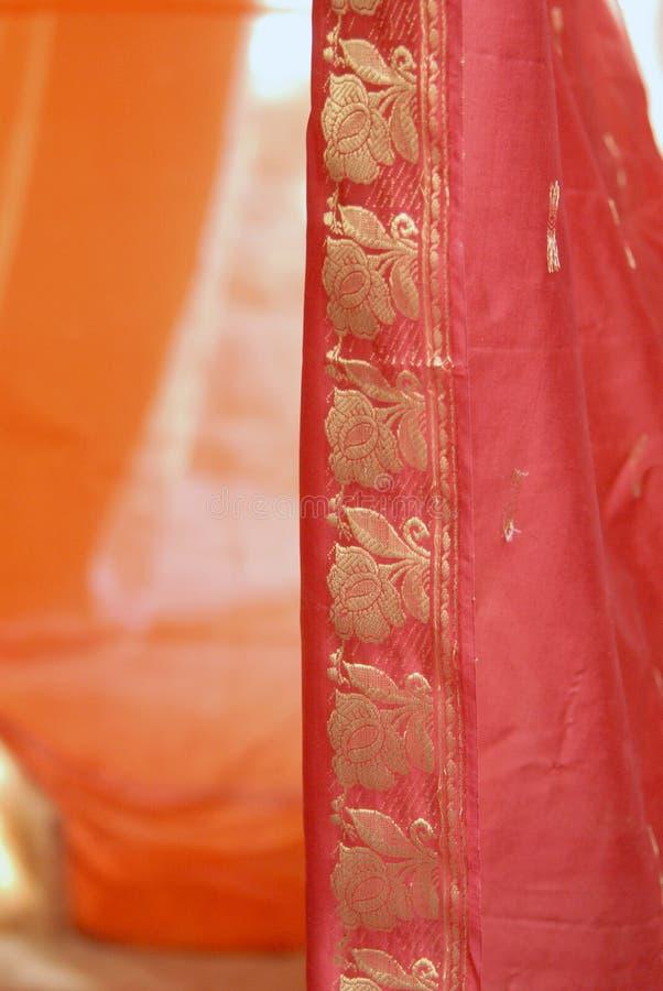 Seidengewebe-Vorhang stockbild