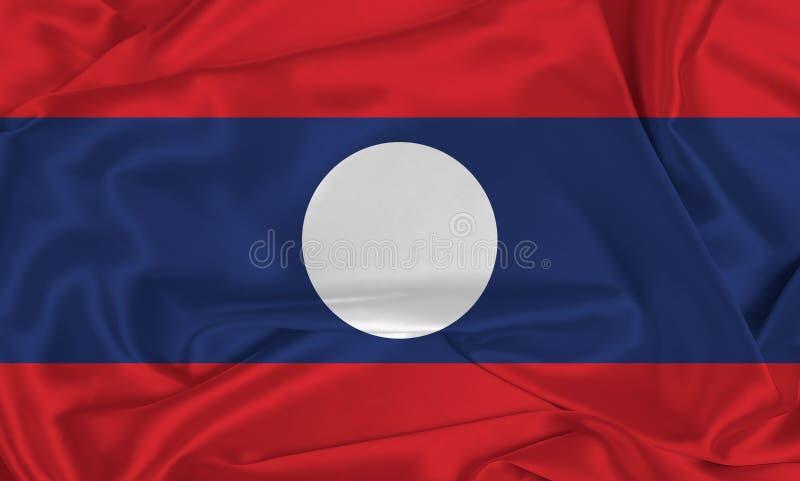 Seidenlaos-Flagge stockfotografie