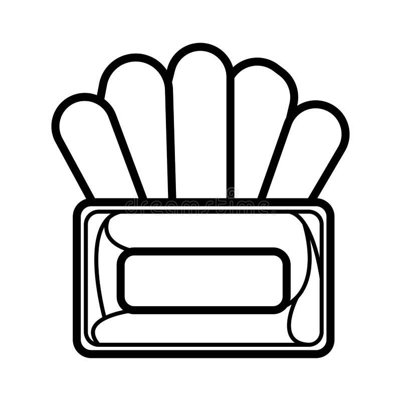 Seidenpapier-Kastenikone stock abbildung