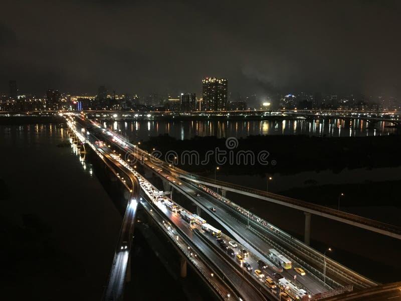 seidige Fahrbahn in Taipeh lizenzfreie stockfotografie