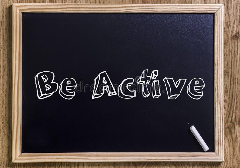 Seien Sie aktiv stockfotografie