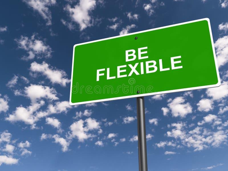 Seien Sie flexibel stock abbildung