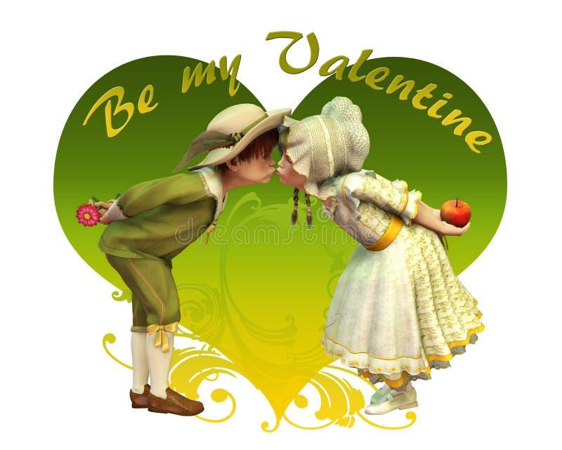 Seien Sie mein Valentinsgruß vektor abbildung