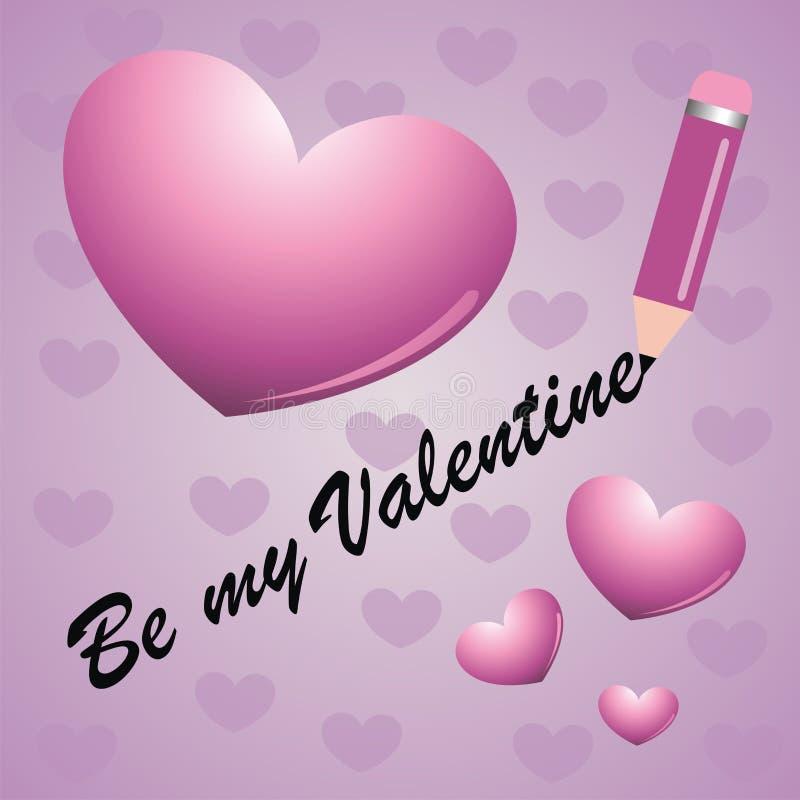 Seien Sie meine Valentinsgruß-Karte stock abbildung