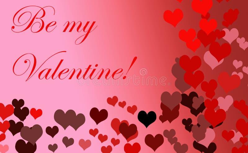 Seien Sie meine Valentinsgru?karte lizenzfreie abbildung
