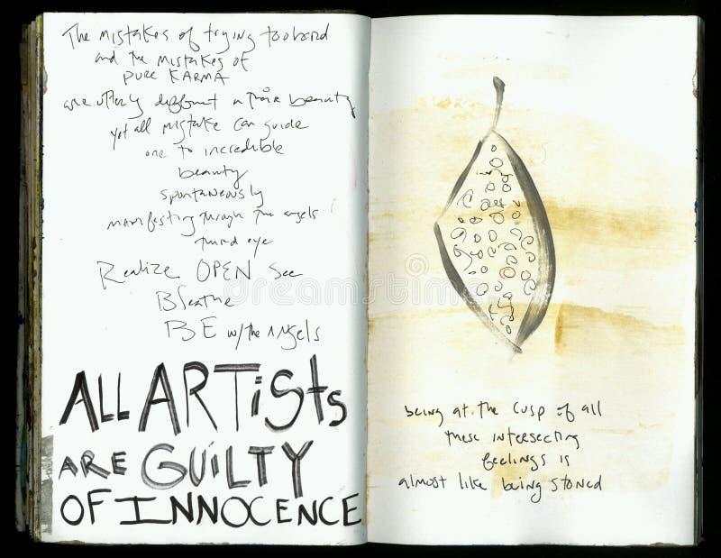 Seien Sie mit der des Engels-die verrückte Klugheits-handgemachten Collage Art Journal Künstlers lizenzfreie abbildung