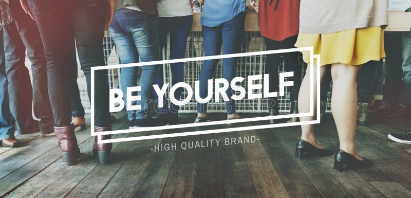 Seien Sie sich unterschiedliche einzigartige Individualitäts-seltenes Konzept lizenzfreie stockfotos