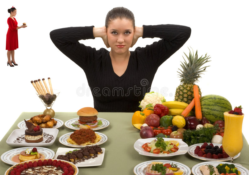 Seien Sie stark und essen Sie gesundes stockfoto