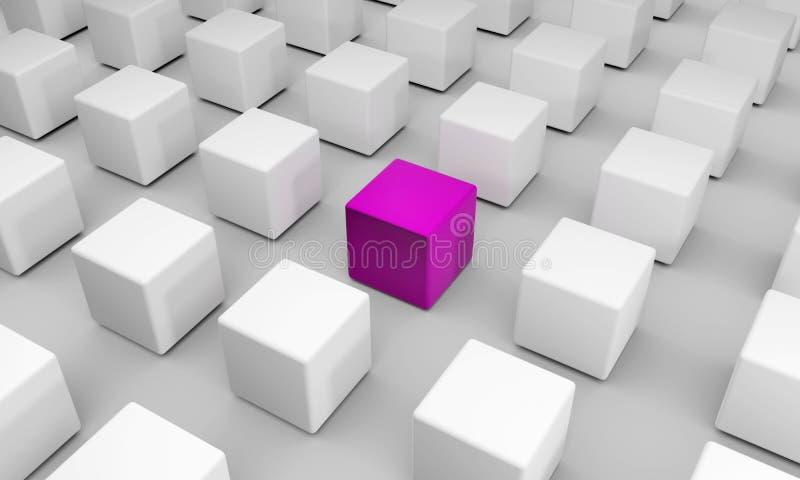 Seien Sie unterschiedlich Einzigartig in einer Gruppe von vielen Symbol der Besonderheit lizenzfreies stockfoto