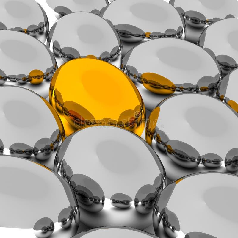 Seien Sie unterschiedliches, goldenes Ei stock abbildung
