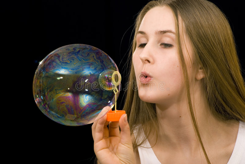 Seife-Luftblasen stockbild