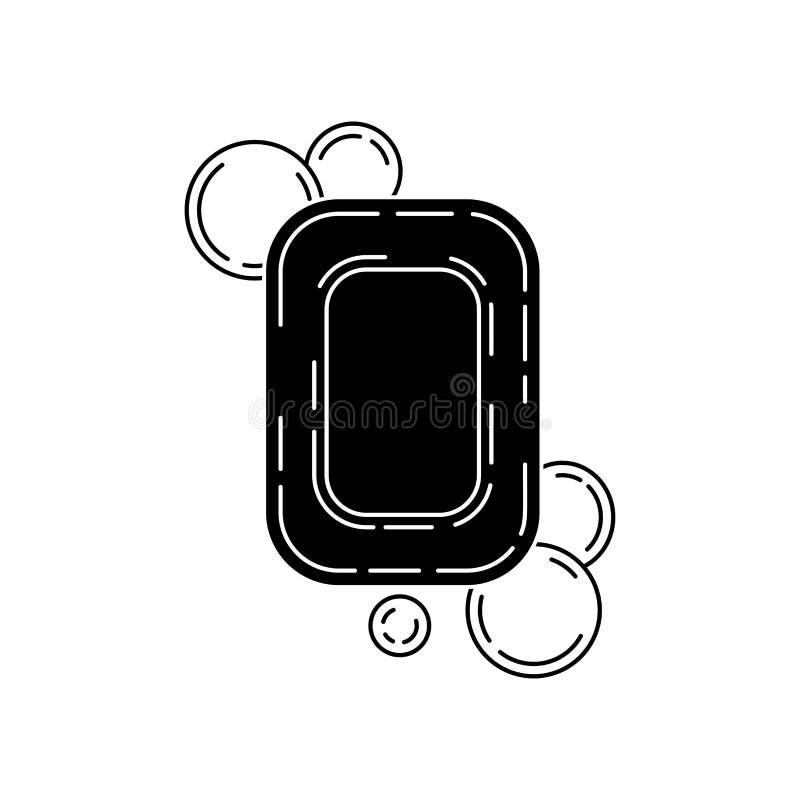 Seife mit Blasen, Vektorillustration lizenzfreie abbildung