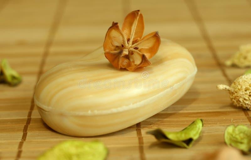 Seife mit natürlichem Kräuterbestandteil. lizenzfreies stockbild