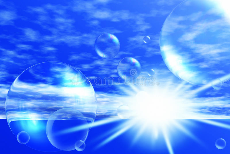 Seifenblasen stock abbildung