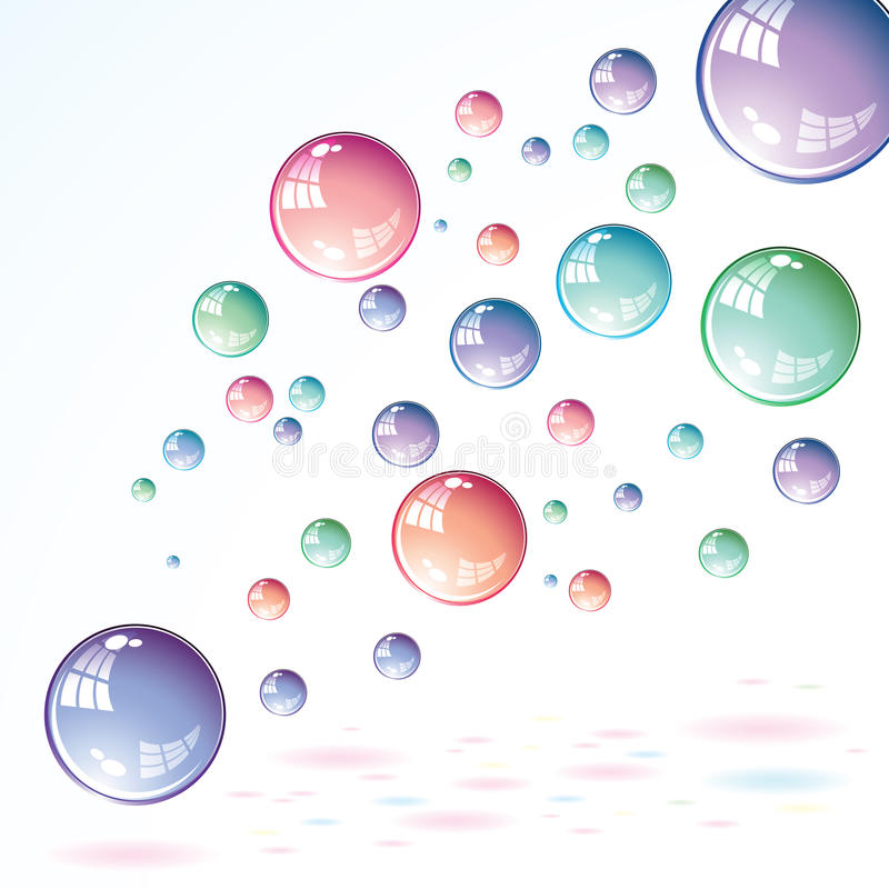 Seifenluftblasen vektor abbildung