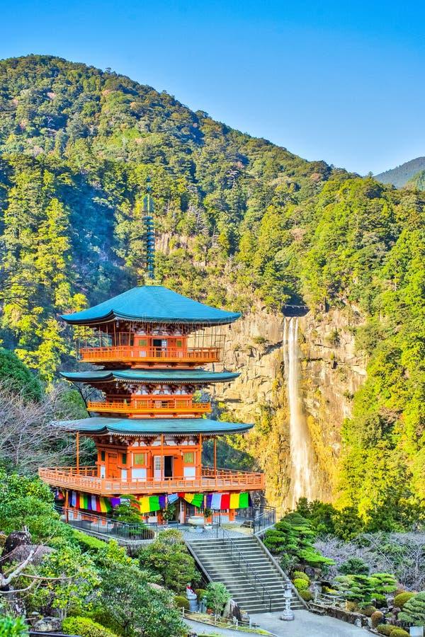Seiganto籍塔在和歌山县,日本 免版税库存图片