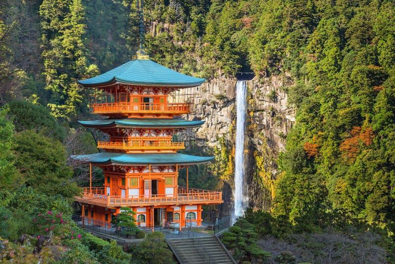 Seiganto籍寺庙塔在Nachi Katsuura的 库存图片