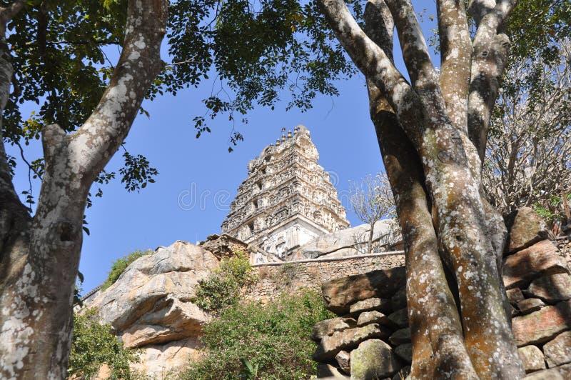 Seigneur Narasimha Swamy Temple images libres de droits