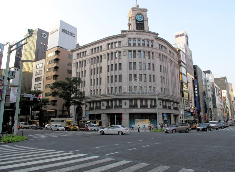 Seiko budynek w Ginza, Tokio, Japonia. zdjęcie royalty free