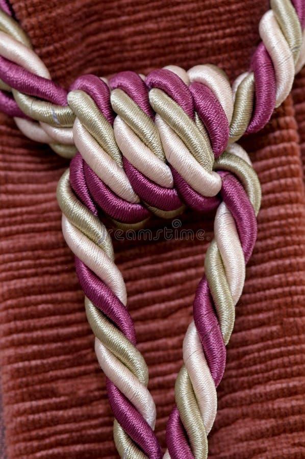 Seil angeschlossen an einen Knotenpunkt stockfotos