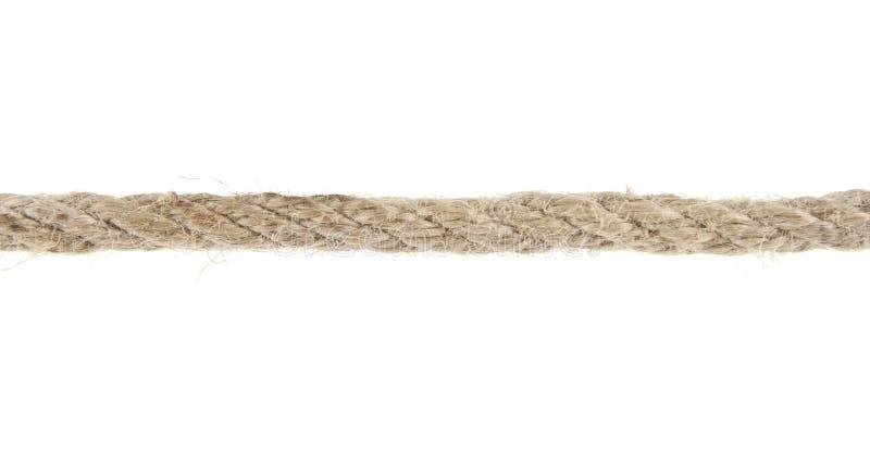 Seil getrennt auf Weiß lizenzfreies stockfoto