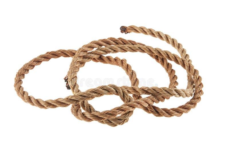 Seil getrennt auf Weiß stockfoto
