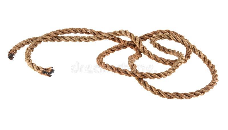 Seil getrennt auf Weiß stockbild