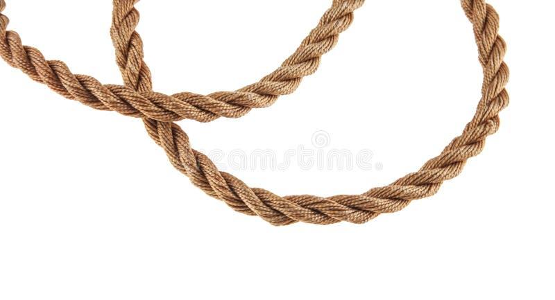 Seil getrennt auf Weiß stockfotos