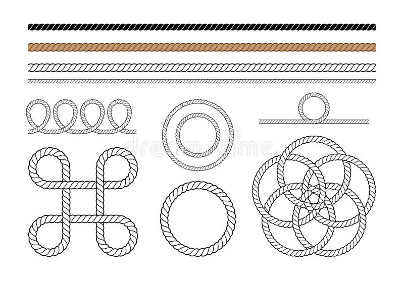 Seil-Grafik-Elemente lizenzfreie abbildung