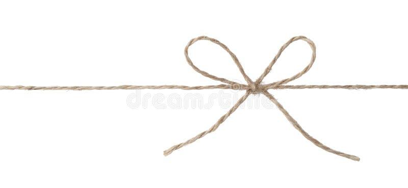Seil mit Bogenknoten stockfotos